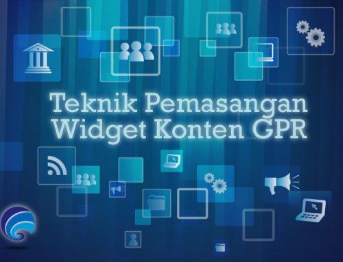 Petunjuk Teknis Pemasangan Widget Konten GPR